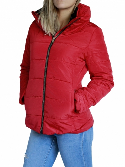 Ženska bunda W5828-RED3-obleke-22-jakne--bunde--vetrovke-in-softshell-i SuperFashion