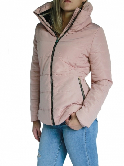 Ženska bunda W5828-PINK3-obleke-22-jakne--bunde--vetrovke-in-softshell-i SuperFashion