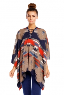 Poncho May Collection MC4056 rjava-temno modra