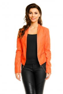 Blazer Leather Flamant Rose 8A189 oranžna