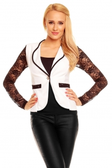 Blazer Fashion 23340 bela-črna