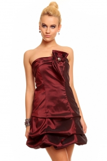 Obleka Fashion Moda 81181 bordo