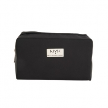 NYX Black Medium Rectangular Zipper Makeup Bag