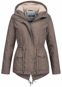 Ženska parka D7003A44367A 21300 middle brown