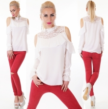 Ženska bluza PLUS127-WHITE