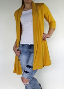 Ženski blazer 12253-YELLOW