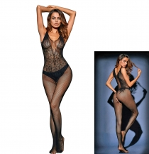 Bodystocking Natividad. črn
