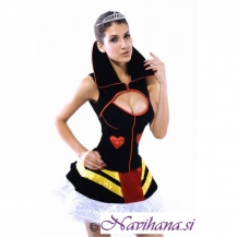 Kostum kraljica Sexy Queen of Hearts