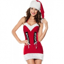 Kostum Božička Christmas Babe Halter Dress